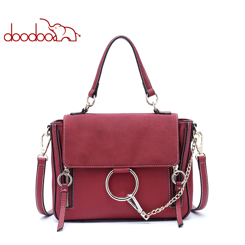 DOODOO Women Messenger Bags Crossbody Designer Chain Strap Ladies Shoulder Bag Bolsa Feminina Women Bag PU Leather Wings Package сумка pigi 4644 pg ex9f7fwf