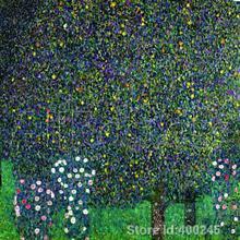 Известная картина маслом розы под деревьями около Густав Климт репродукции на холсте высокого качества Ручная роспись