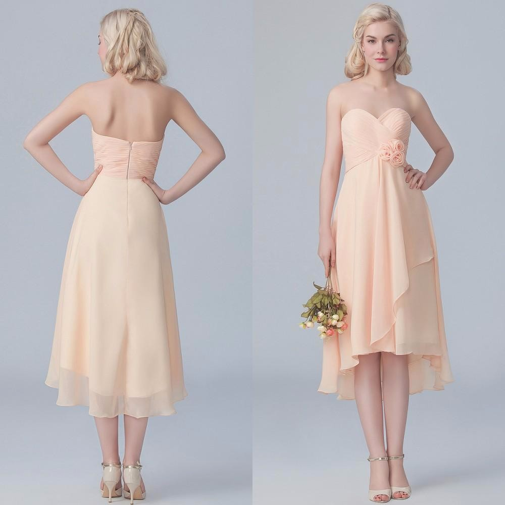 Compare prices on bridesmaid dresses maternity online shopping special high low bridesmaid hand made flowers sweetheart elegant a line empire peach chiffon maternity bridesmaids ombrellifo Images