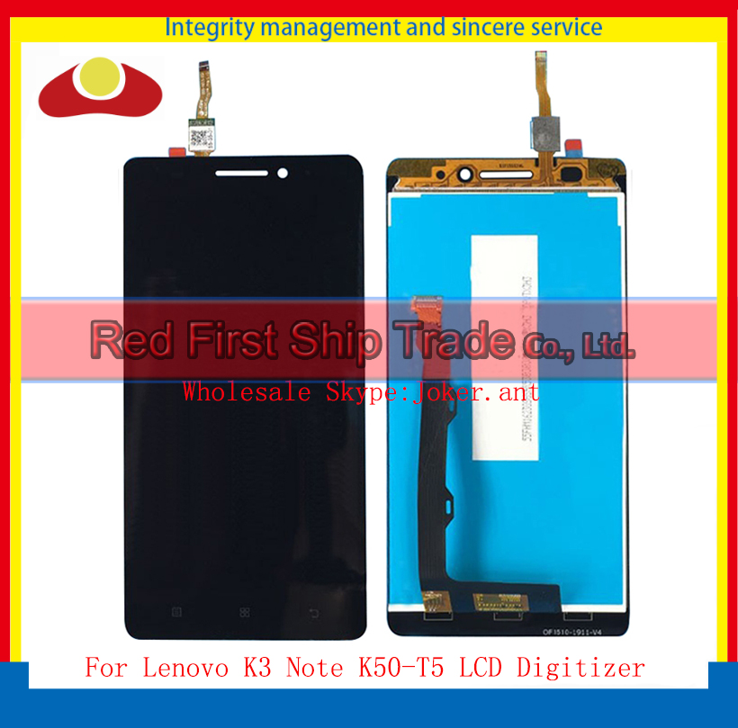 High Quality 5.5 For Lenovo K3 Note K50-T5 Full Lcd Assembly Complete Display + Touch Screen Digitizer Sensor Panel+Tracking high quality 5 0 for lenovo s580 full