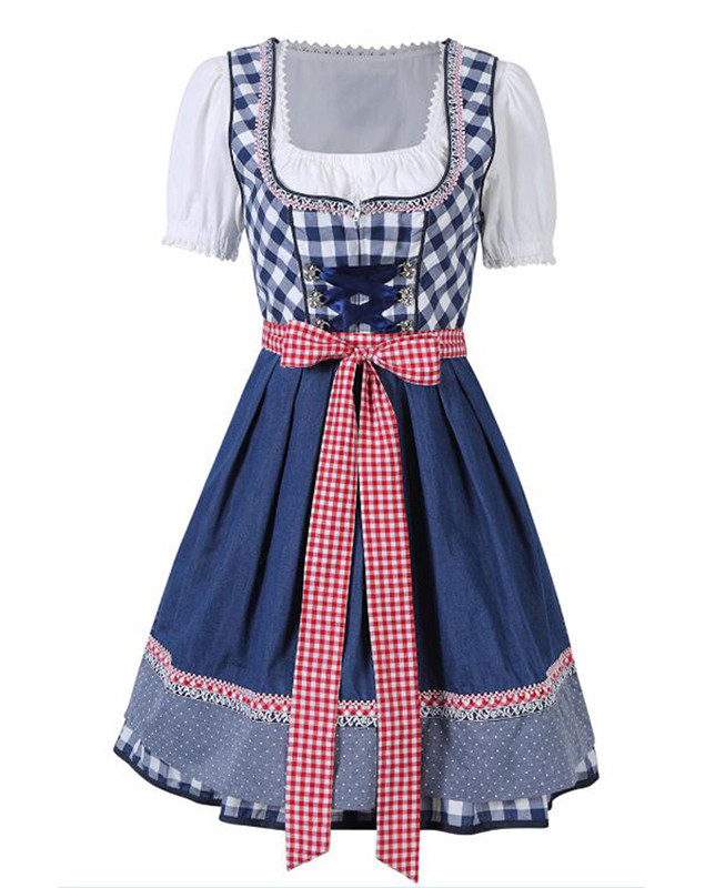 Oktoberfest Costume Maid Peasant Skirt Bavarian Party Dirndl Women Dress Female