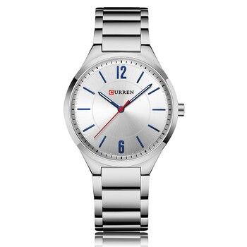 CURREN New Men Watch Top Brand Men's Fashion Gold Quartz Wrist Watches Male Stainless Steel Analog Sport Watch Relogio Masculino 1
