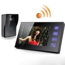 Видеодомофон TFT 2,4G, 7 дюймов, TFT, беспроводной, домофон, дверной звонок, монитор камеры безопасности, цветной громкоговоритель