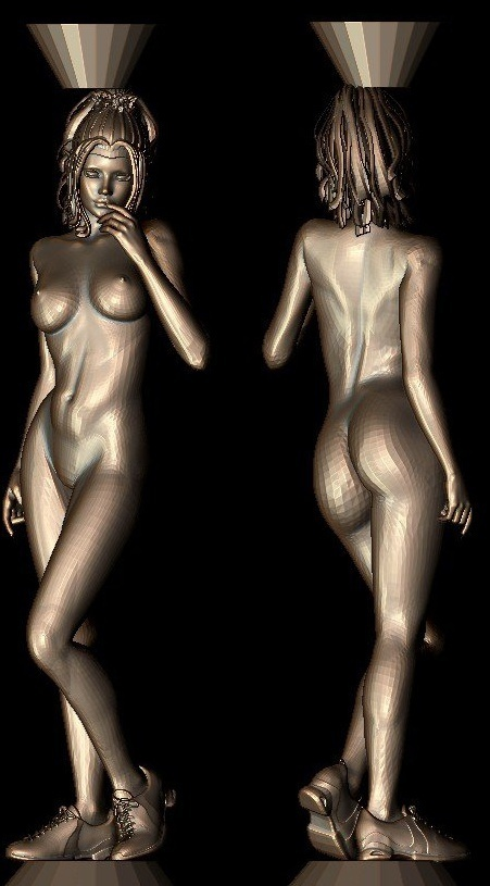 New 3D Model For Cnc 3D Carved Figure Sculpture Machine In STL File Format- Naked Woman-5