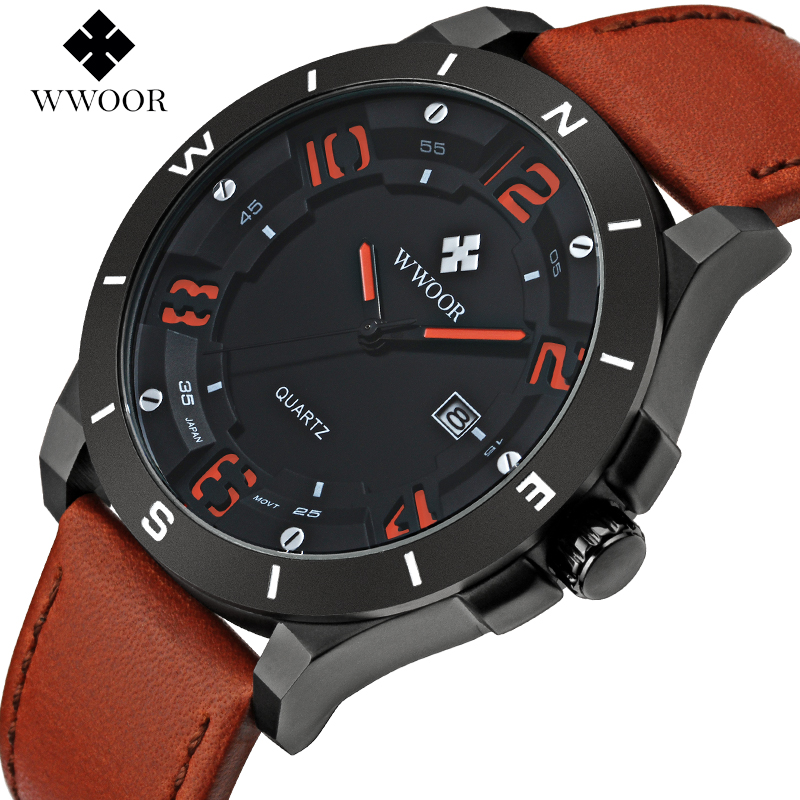 2016 Brand Top Luxury Leather Men font b Watches b font Men Business Quartz font b