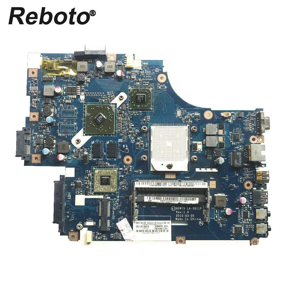 Reboto FOR ACER 5552 5552G Laptop Motherboard NEW75 LA 5911P MBR4U02001 HD 6470M 512MB DDR3 MainBoard