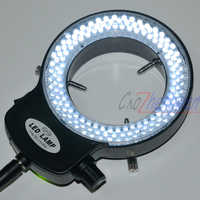 FYSCOPE Einstellbare 144 LED Ring Licht illuminator Lampe Für Industrie Stereo Mikroskop mit 110 V-240 V AC Power lupe Adapter