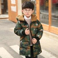 2017 ragazzi inverno nuovo cappotto casuale del Ragazzo freddo giacca Ragazzo nuovo giacca mimetica cotone di Alta qualità indumento 4-11 anno vecchio ragazzo jacke