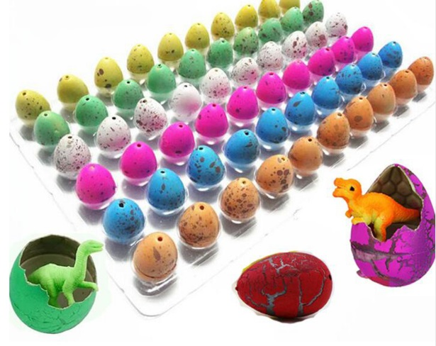 60pcs/lot Magic Growing Hatching Water Inflation Dinosaur Eggs Toy For Children Gift Educational Novelty Gag Toys