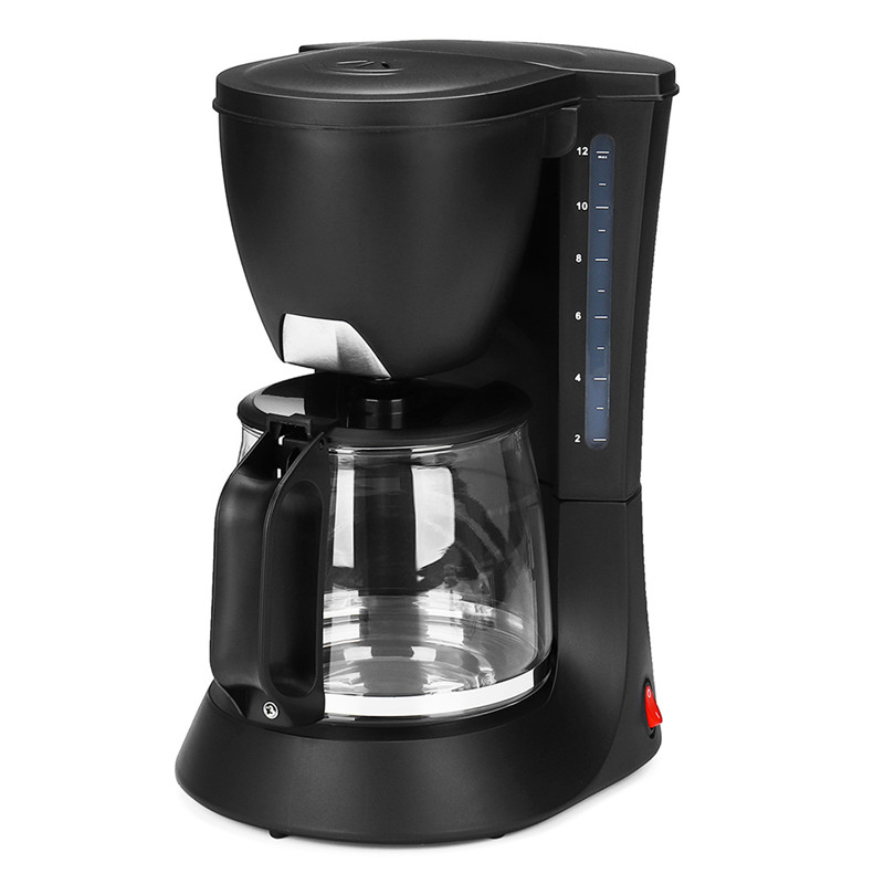 Household Coffee Maker With Power Cord with Glass Pot 220V 750W EU Plug 1.2L For 5-10 Cups Anti-drip Leakage Anti-dry Overheat hot coffee pot coffee drip 700ml