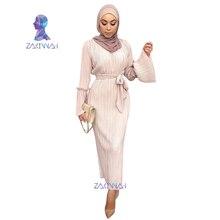 Pleated Robe Musulmane Turkish Dubai Abaya Muslim Adult Robe Middle East Ramadan Arab Islamic Clothing