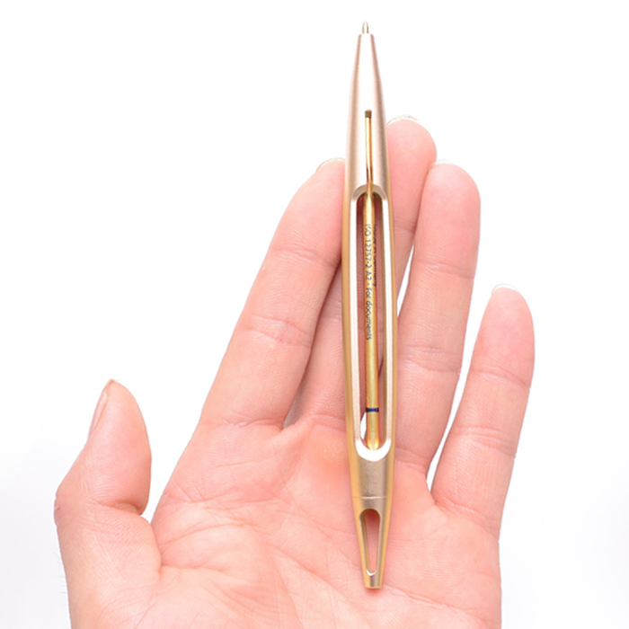 1pc Creative Design Luxury Metal Ballpoint Pen Gold or Black 0.5mm Fine Point High-end Gift Pens Business Office School Supplies picasso pimio 960 unique design luxury fountain pen high end full metal writing ink pens fine point business gift stationery