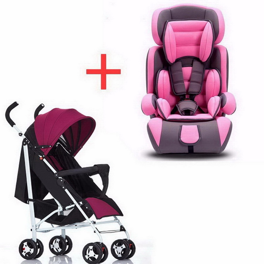 Children's car safety chair foldable 9 months 12 years 9-36 kg baby 3C certified chair and cart combination SY-YZ213-4 sweet years sy 6282l 07