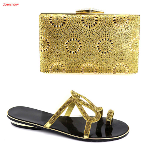 doershow Italian Shoes and Bags To Match Shoes with Bag Set Decorated with Rhinestone Nigerian Women Wedding Shoes  HBV1-12doershow Italian Shoes and Bags To Match Shoes with Bag Set Decorated with Rhinestone Nigerian Women Wedding Shoes  HBV1-12