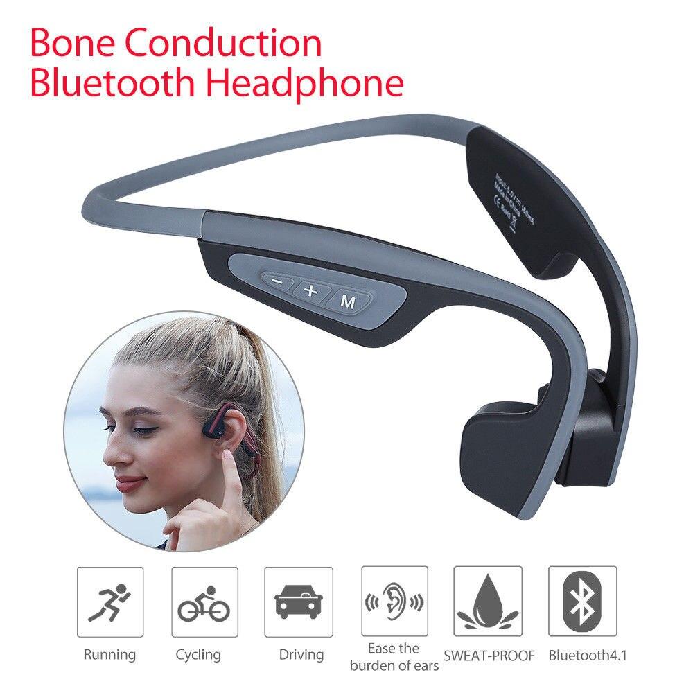 EliKliv LF-19 Conduction Osseuse Casque Bluetooth 4.0 À La Sueur Confortable Écouteurs Casque Casque Pour IOS/Andriod Sport