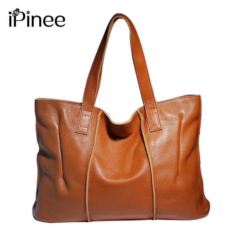 iPinee Genuine leather handbags for women 2018 fashion brands handbag women's leather handbag shoulder bag women bag fashion women handbags genuine leather shoulder bag solid multi color female handbag with free shipping
