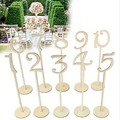10pcs Mini Wooden Chalkboard Table Numbers 1-10/11-20 Wooden Stick Set with Base French Font Wedding Birthday