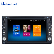 Dasaita 6.2 Android 9.0 Universal 2 Din Car DVD Player with Touch Screen Auto Stereo GPS Radio Turner 4g 32g 800*480 12V