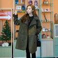 Новое прибытие женщин зимние пальто army green цвета хлопок длинные рукава jaquetas feminina толщиной моды корейских женщин пальто