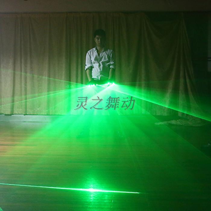 Freies Verschiffen Multifuncation 3 in 1 LED Laser-Handschuh-grünem - Partyartikel und Dekoration - Foto 3