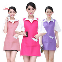 Fashion beauty salon cosmetician work clothes apron vest style female baby nail shop apron
