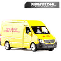 High Simulation Model Toy Car RMZ City 1:36 Metal Benz Sprinter DHL Express Alloy Bus Model Excellent For Kids Gifts Collection