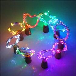 2 Mt Flasche Bunte Led Lichterkette 20 Leds AG13 (LR44) batterie Betrieben LED String Licht für Weihnachten Hochzeit Dekoration Lampe