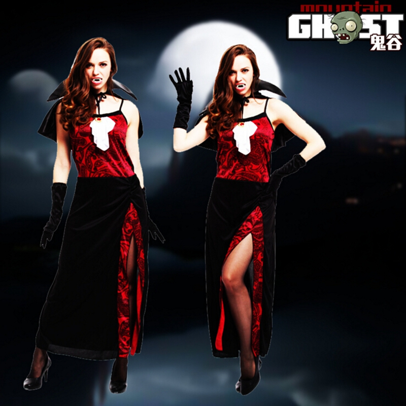 <font><b>Halloween</b></font> Costumes <font><b>Sexy</b></font> <font><b>Women</b></font> <font><b>Witch</b></font> Vampire Costume <font><b>Halloween</b></font> Dress Costume Masquerade Party image