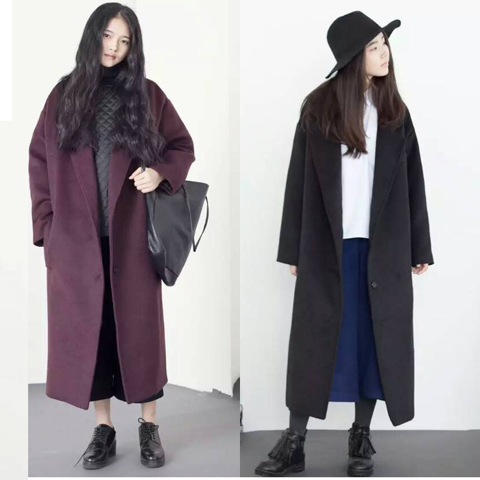 Compare Prices on Womens Black Oversized Woolen Coat- Online ...