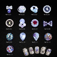 80 Pcs Mixed China Acrylic Nail Art Designs Using Rhinestones