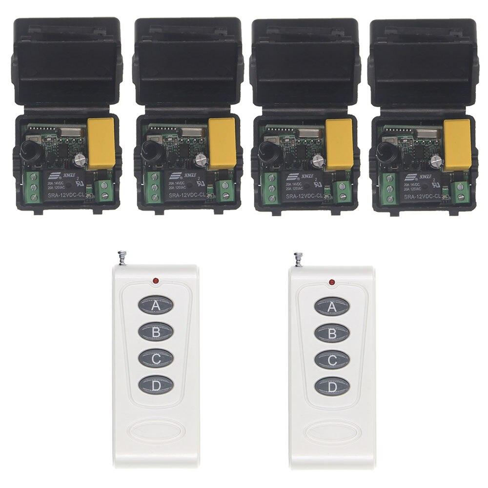 1000m Mini AC 220V 1CH 1 CH 10A RF Wireless Remote Control Switch System 4CH Transmitter 315 / 433 MHz ac 220v 30a 1ch rf wireless remote control switch system 315 433 mhz 6ch transmitter