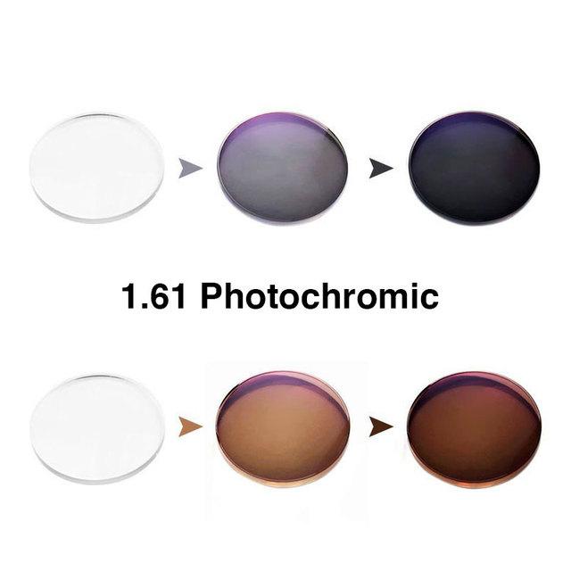 1.61 Graduadas Monofocales con Cambio de Color Rápido Rendimiento