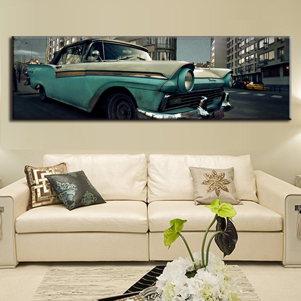 Large Canvas Paintings Vintage Painting Canvas Prints Living Room ...