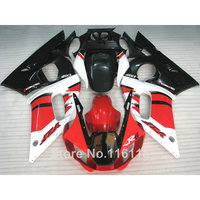 ABS fairing kit fit for YAMAHA R6 1998 1999 2000 2001 2002 R6 red white black YZF R6 fairings set 98 99 00 01 02 #3223