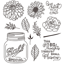 AZSG Flowers and Bottles Silicone Clear Stamps/Seal For DIY Scrapbooking Decorative Card Making Craft Fun Decoration Supplies