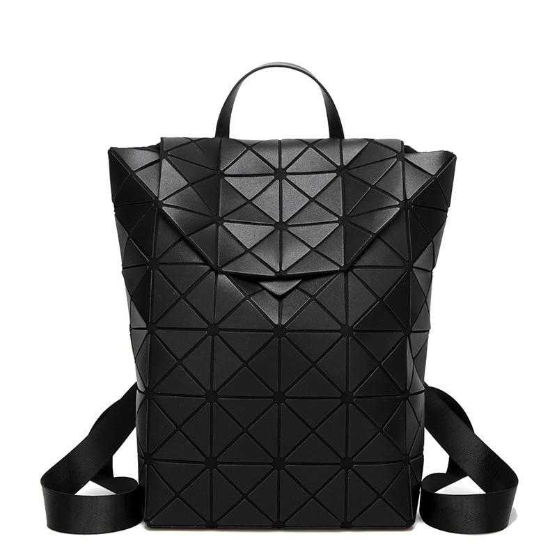 New Bao Luminous Backpacks Women Fashion Girl Daily Backpack Geometry Package Sequins Female Folding Bags Bao School Bags