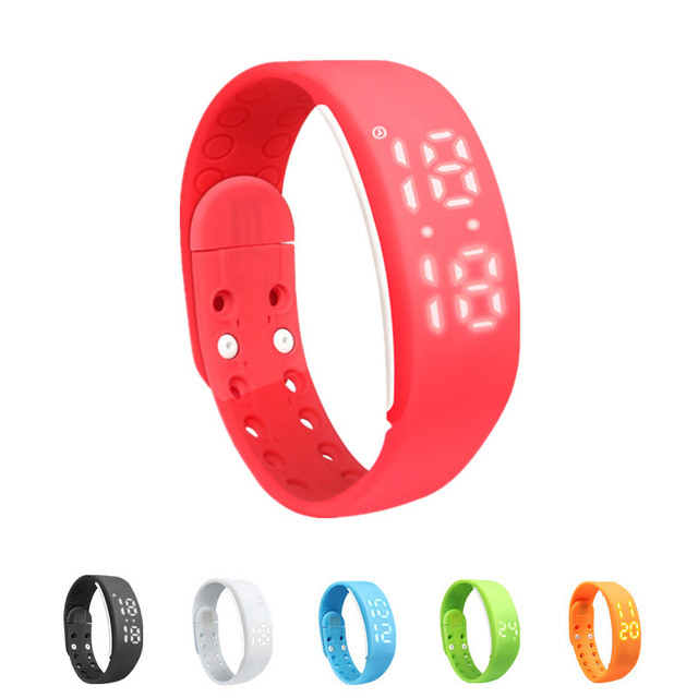 W2 Smartband Bracelet Time Display Smart Watch with Calorie 3D Pedometer Temperature Sleep Monitor Waterproof Wristband