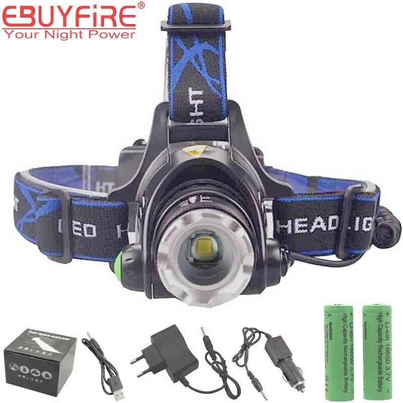 EBUYFIRE A9 LED Projecteur ZOOM 2000LM Étanche 18650 Rechargeable LED Phares Lampe
