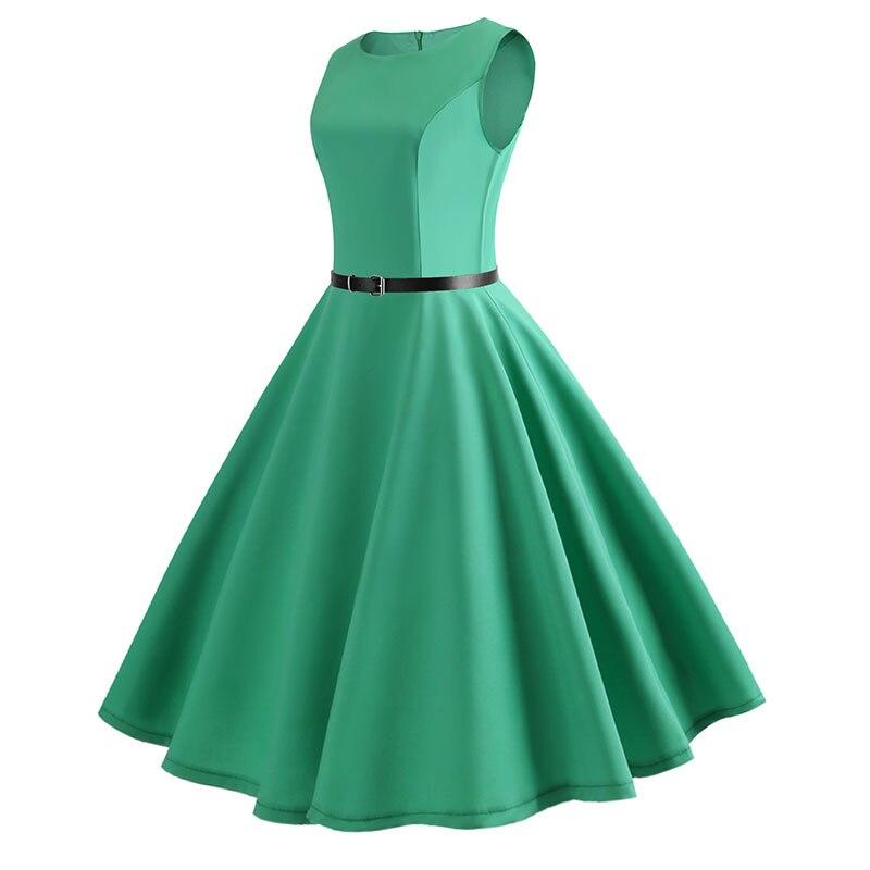 Blue Vintage Swing Dress 95