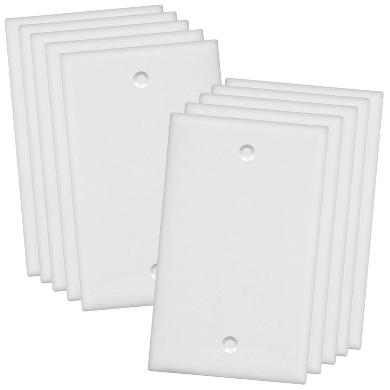Empty Panel Standard Size Without Device Blank Panel White 10 Packs