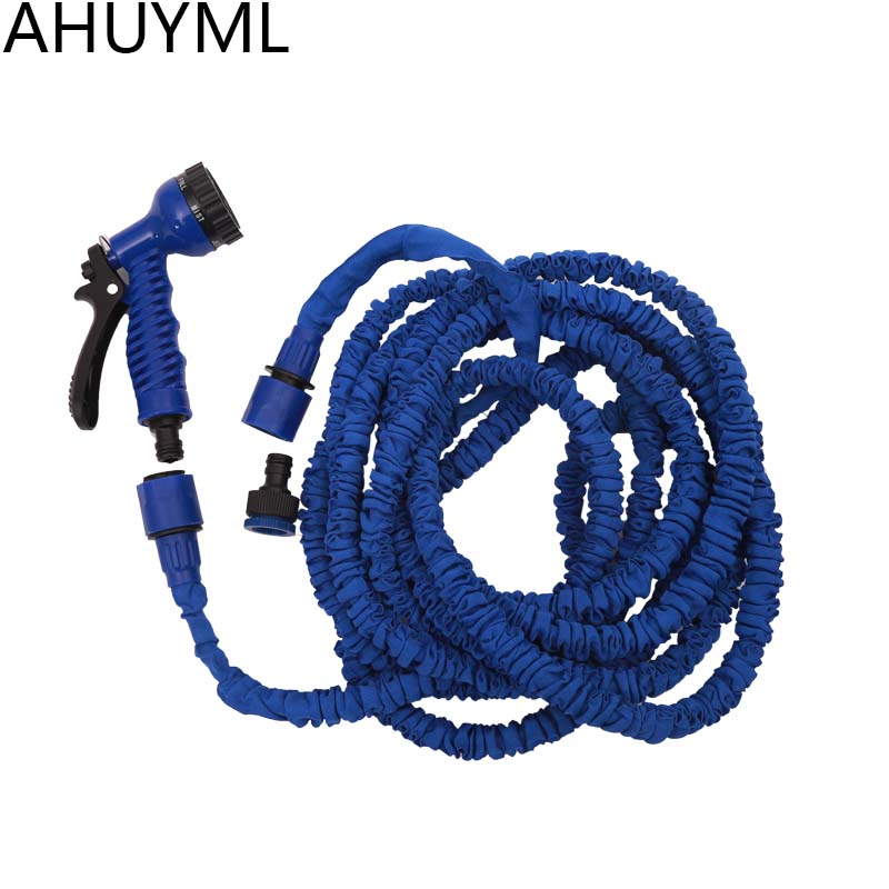 25-200FT Expandable Magic Flexible Garden Water Hose For Car Hose Pipe Plastic Hoses To Watering With Spray Telescopic Water Gun