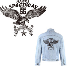 27cm large patch letter eagle iron patches for clothing animal black stickers jacket on transfer t-shirt parches