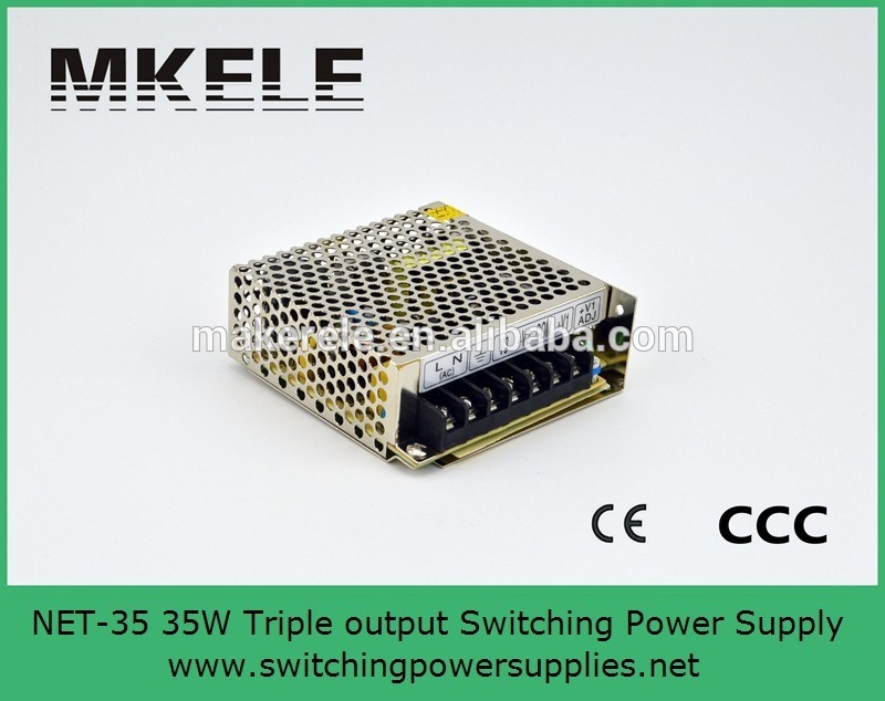 Good Quality 85 ~ 264VAC Input 35w Triple Output Net-35d Switching <font><b>Power</b></font> <font><b>Supply</b></font> <font><b>5V</b></font> 24V 12V CE Approved image
