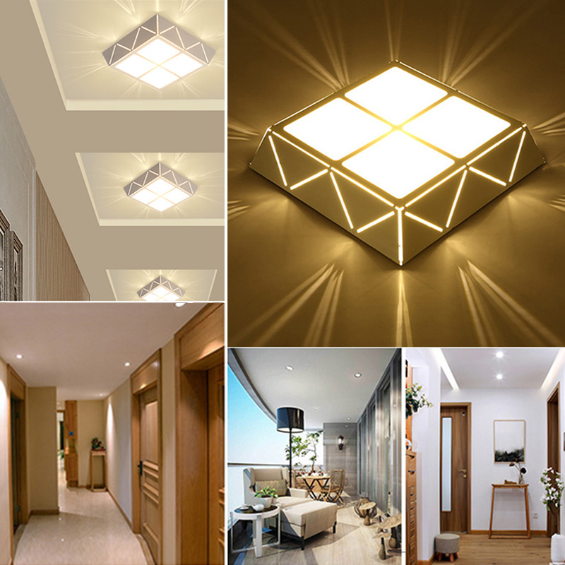 Modern Ceiling Lights LED Bulbs 12w for Hallway Balcony Corridor Light Lamps Bedroom Luminaria Teto Acrylic LamparasModern Ceiling Lights LED Bulbs 12w for Hallway Balcony Corridor Light Lamps Bedroom Luminaria Teto Acrylic Lamparas