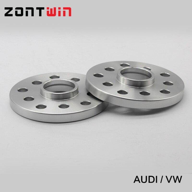 2 pièces 12mm Entretoises De Roue costume pour Voiture Audi Kit 5x100/5x112 CB: 57.1 A1/A2/A3/A4 (B5, B6, B7)/A6 (C4, c5, C6)/A8 (4E)/TT/ALLROAD/Quattro - 5
