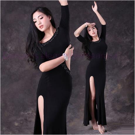 Новые костюмы танец живота сексуальный старший хлопок камни половина рукава танец живота костюм для женщин танец живота платья Ml XL