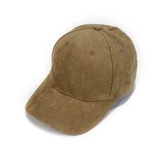Nueva llegada de la manera Unisex ajustable gamuza gorra de béisbol Curved  Brim sombrero Color sólido para las mujeres hombre bd69a4adb30