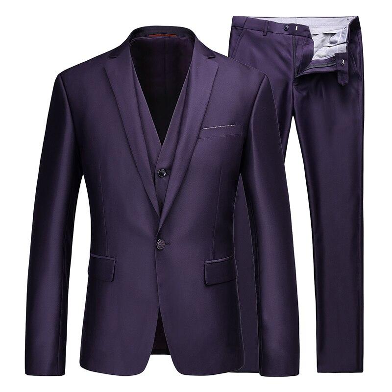 Gilets 2017 D'affaires De Populaire Noir Tops Noce Gilet Taille Nouveau Pantalon Costume Hommes Chaude pourpre Veste bleu 3xl Mode Manteau Costumes ZTPuikXO
