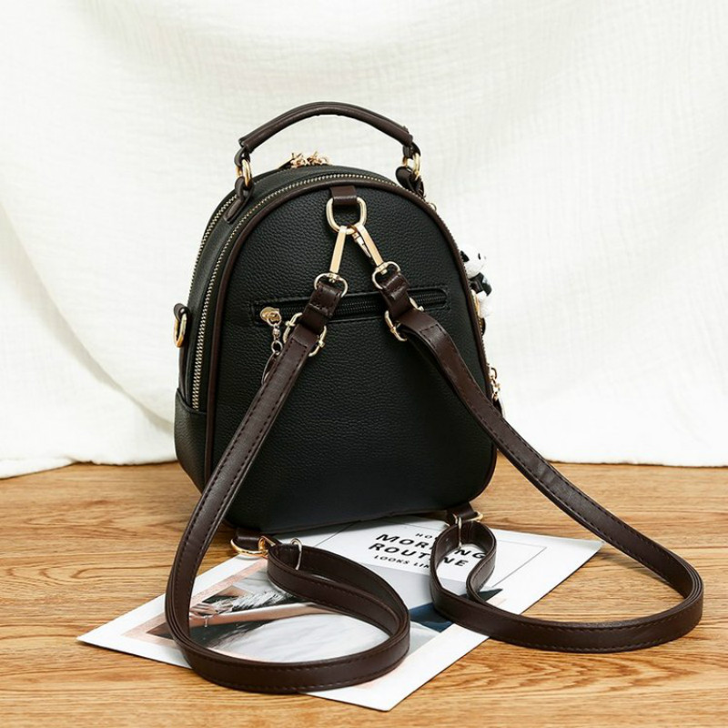 Backpack Female Bagpack Letter Litchi Back Pack Women's Bags  1