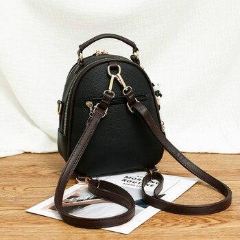 Backpack Female Bagpack Letter Litchi Back Pack Women's Bags  1
